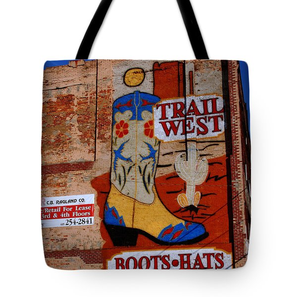 Trail West Mural Tote Bag by Susanne Van Hulst