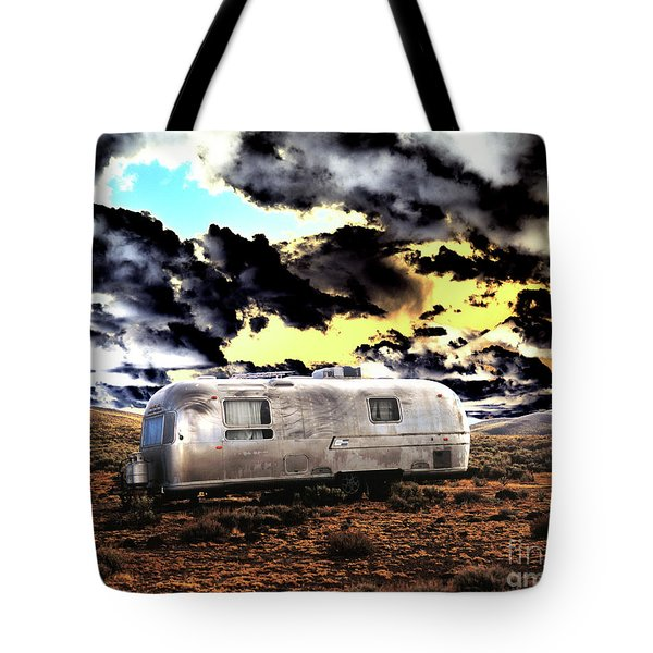 Tote Bag featuring the photograph Trailer by Jim and Emily Bush