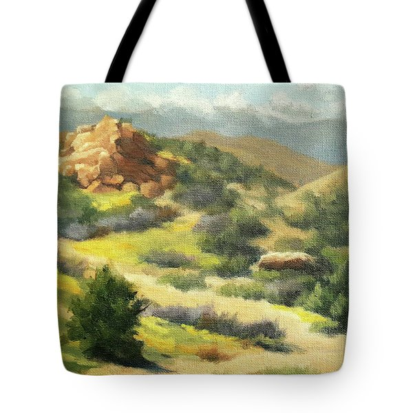Trails Of Vasquez Canyon Tote Bag
