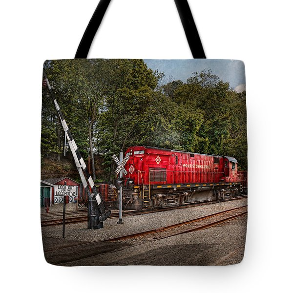 Train - Diesel - Look Out For The Locomotive Tote Bag by Mike Savad