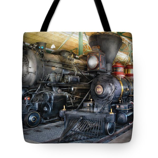 Train - Engine - Steam Locomotives Tote Bag by Mike Savad