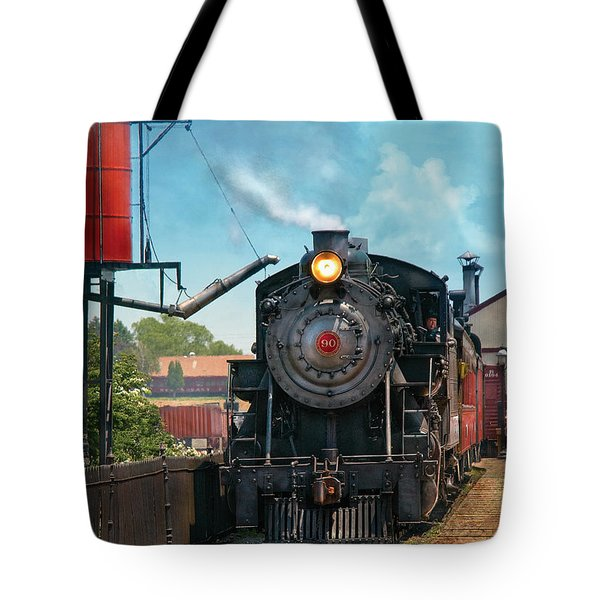 Train - Engine - Strasburg Number 9 Tote Bag by Mike Savad