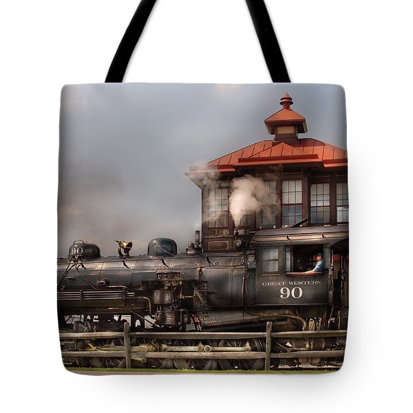 Train - Engine -the Great Western 90 Tote Bag by Mike Savad