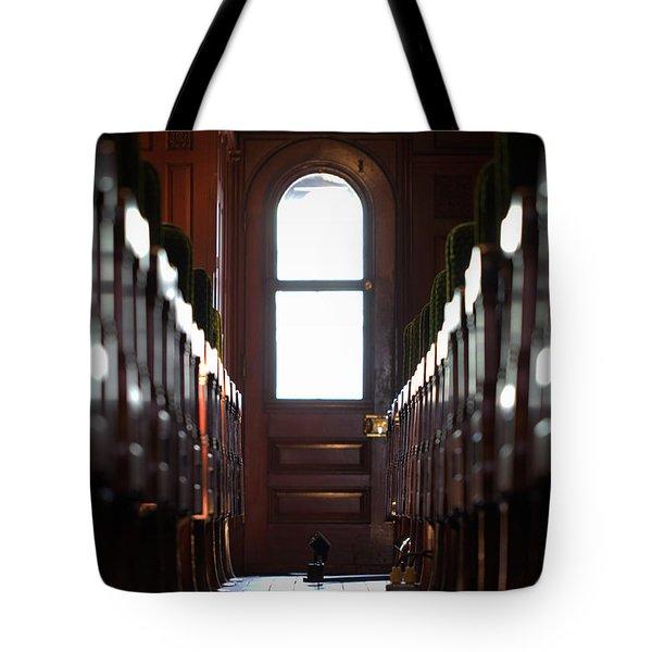 Train Car Interior Tote Bag by Joseph Skompski