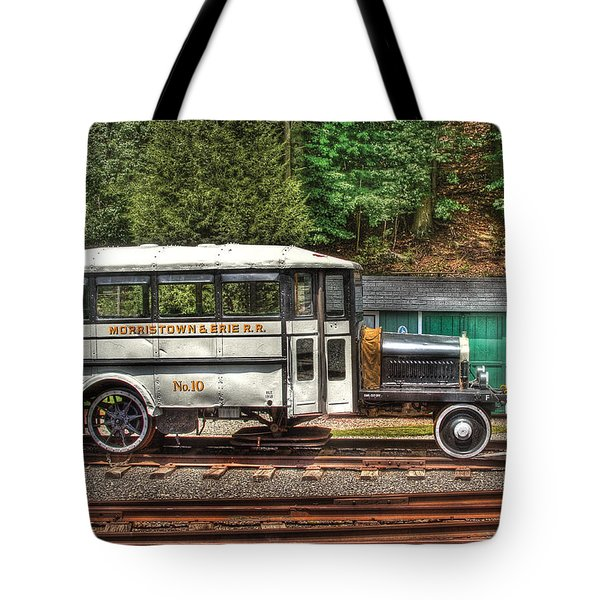 Train - Car - The Rail Bus Tote Bag by Mike Savad