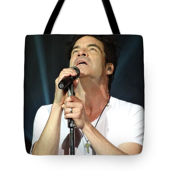 Train's Pat Monahan Tote Bag by Cindy Manero