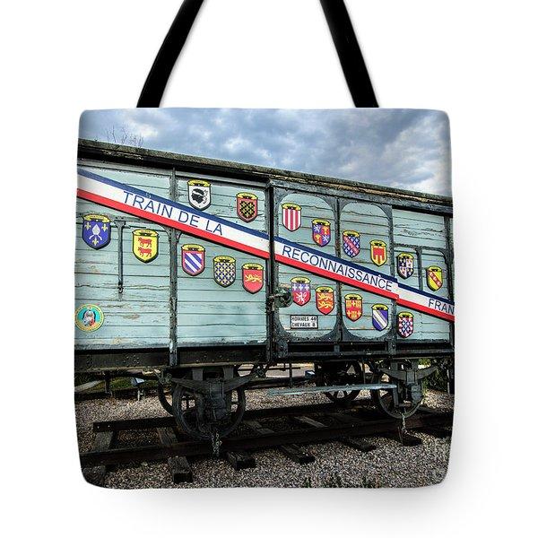 Train De La Reconnaissance Francaise - Ogden - Utah Tote Bag by Gary Whitton
