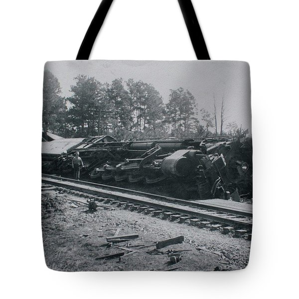 Train Derailment Tote Bag