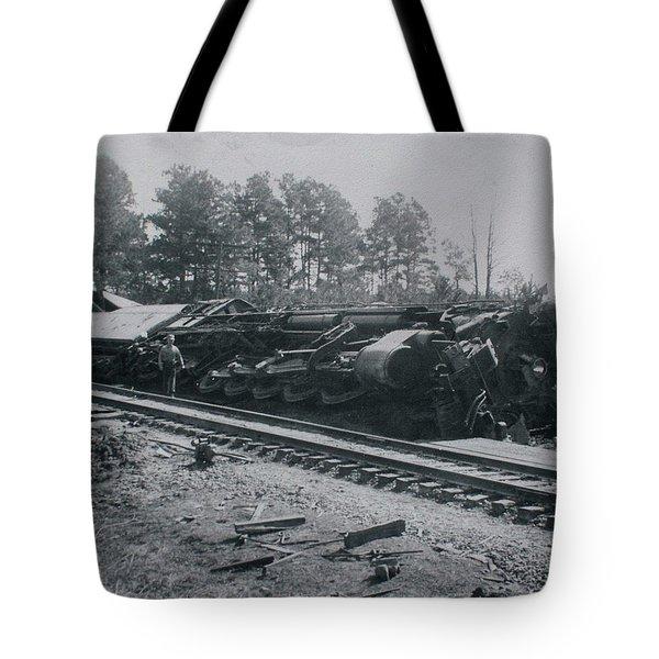 Train Derailment Tote Bag