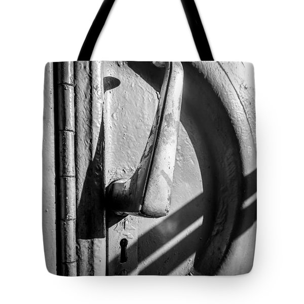 Train Door Handle Tote Bag