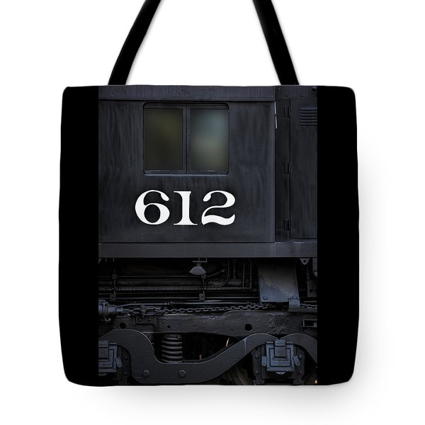 Tote Bag featuring the photograph Train Engine 612 by Steve Siri