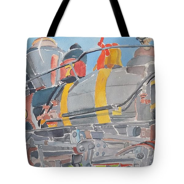 Train Engine Tote Bag by Rodger Ellingson