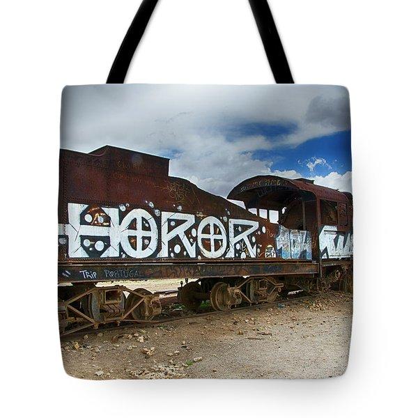 Train Graveyard Uyuni Bolivia 13 Tote Bag