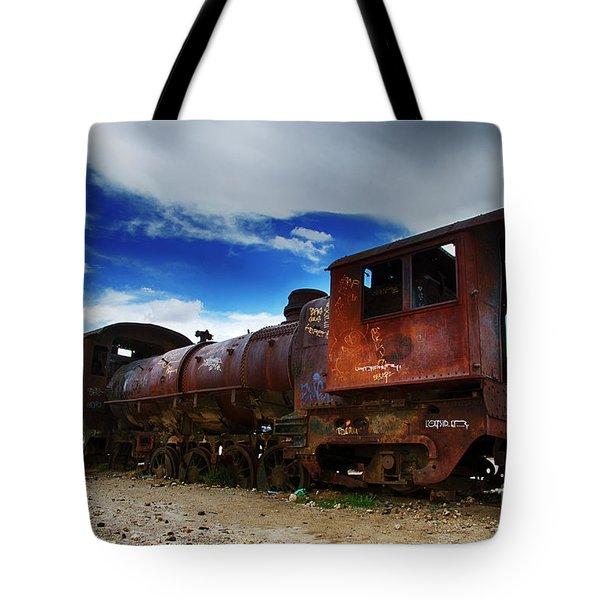 Train Graveyard Uyuni Bolivia 15 Tote Bag