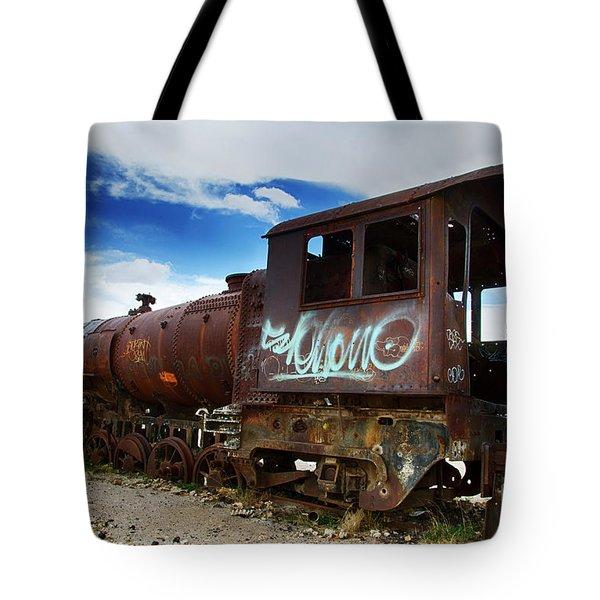 Train Graveyard Uyuni Bolivia 16 Tote Bag