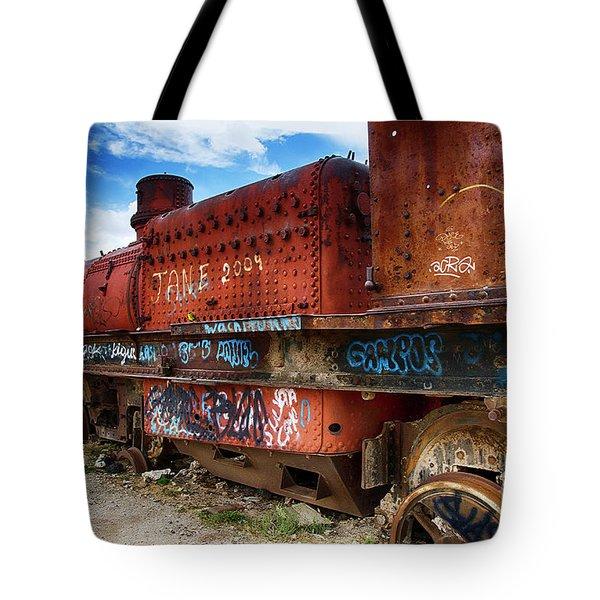 Train Graveyard Uyuni Bolivia 18 Tote Bag