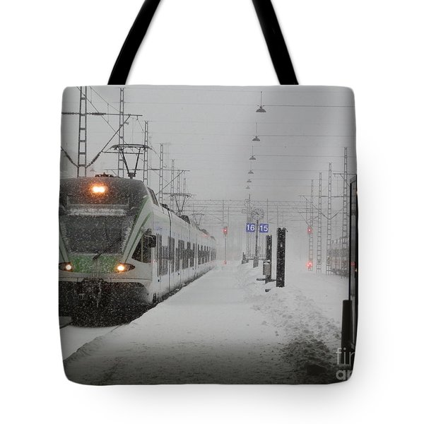 Train In Helsinki Tote Bag