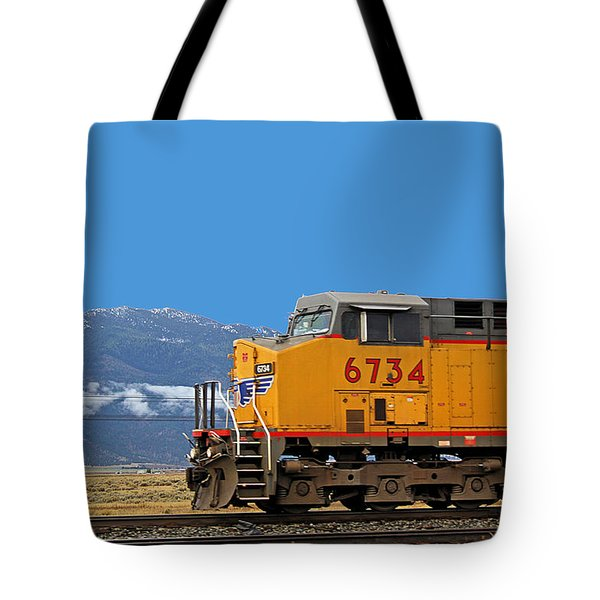 Train In Oregon Tote Bag