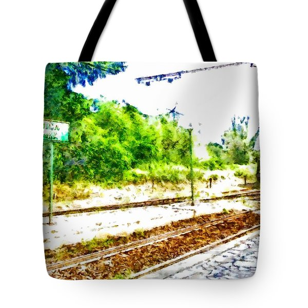 Train In Station Tote Bag