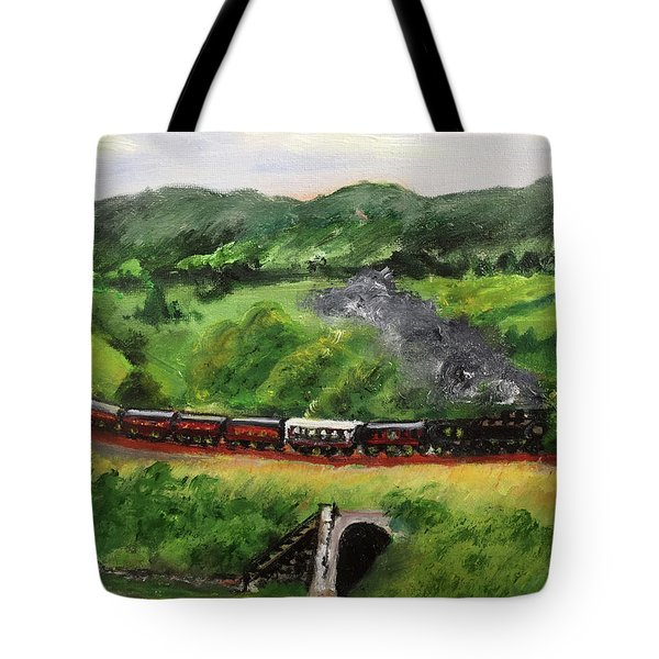 Train In The Country Tote Bag