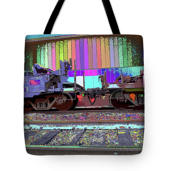 Train Parked Tote Bag