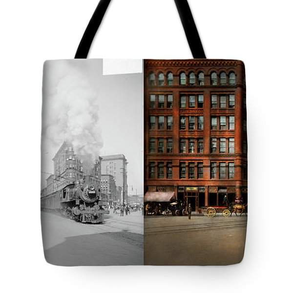 Train - Respect The Train 1905 - Side By Side Tote Bag by Mike Savad
