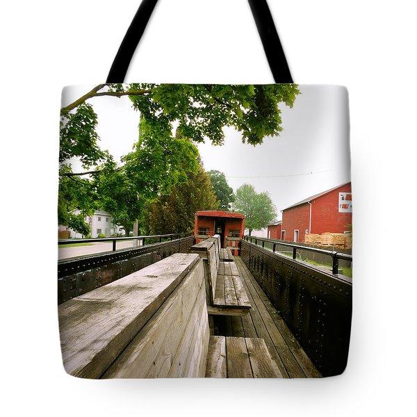 Train Ride Tote Bag