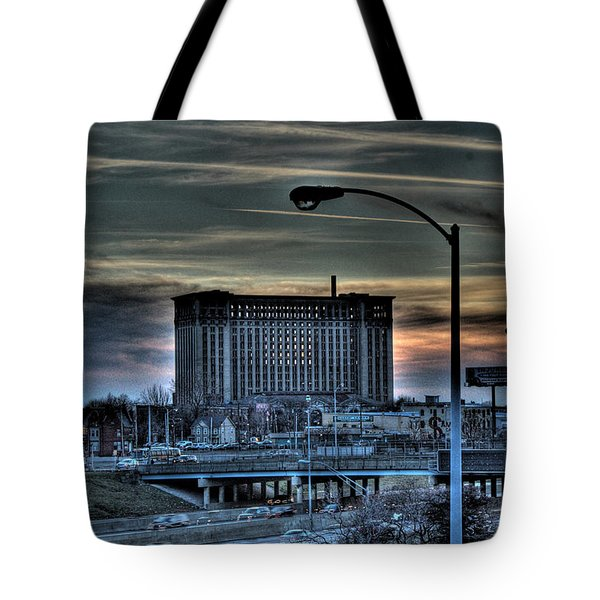 Train Station Detroit Mi Tote Bag by Nicholas  Grunas