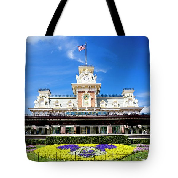 Tote Bag featuring the photograph Train Station by Greg Fortier