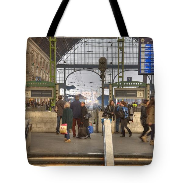 Train Station In Budapest Tote Bag