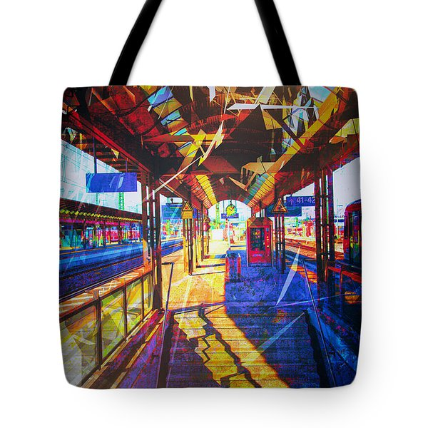 Train Station No. 2 Tote Bag by James Bethanis
