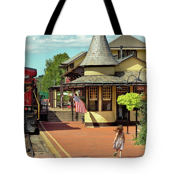 Train Station - There Will Always Be Hope Tote Bag
