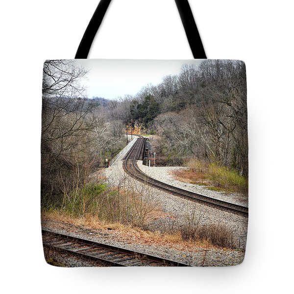 Train Tracks Across The New River - Radford Virginia Tote Bag