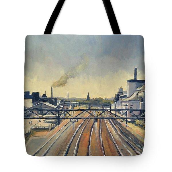 Train Tracks Maastricht Tote Bag