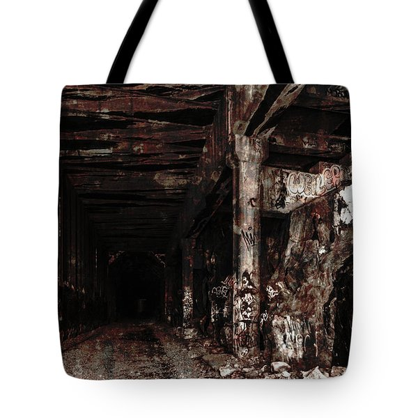 Donner Summit Train Tunnel Tote Bag