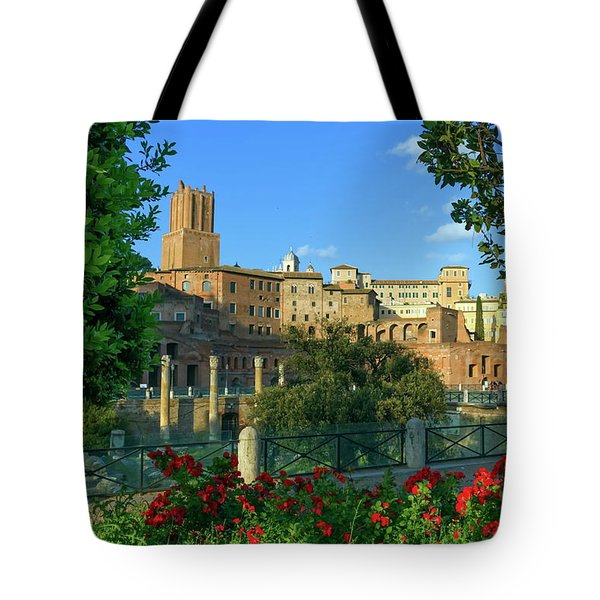 Trajan's Forum, Traiani, Roma, Italy Tote Bag by Elenarts - Elena Duvernay photo