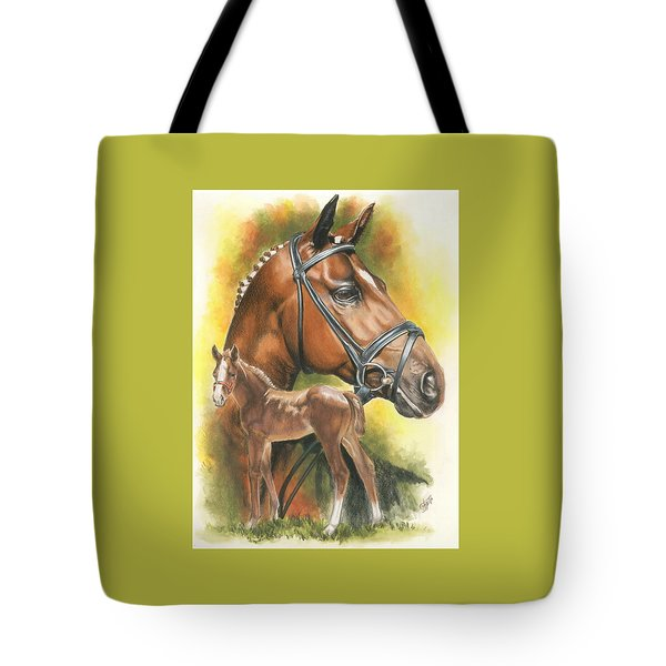 Tote Bag featuring the mixed media Trakehner by Barbara Keith