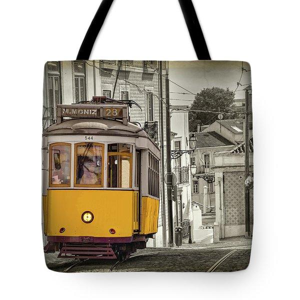 Tram 28 Lisbon Portugal  Tote Bag