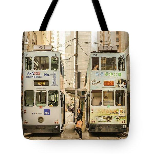 Tram Tote Bag