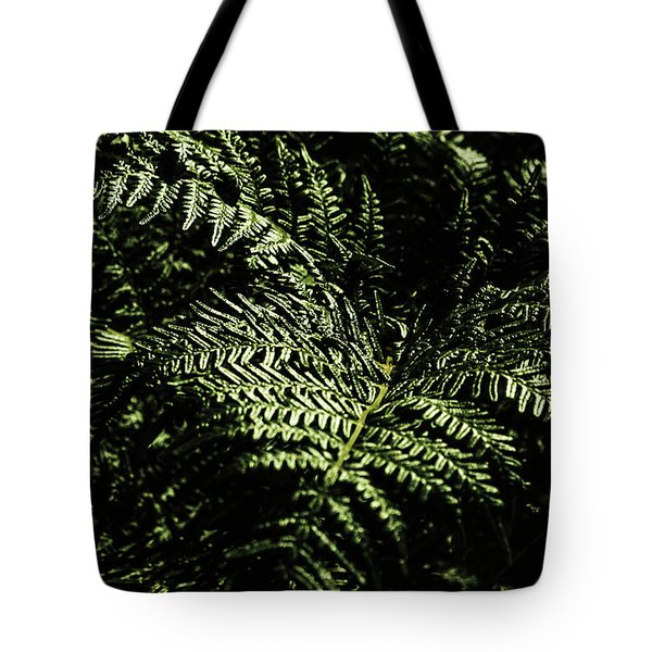 Tranquil Botanical Ferns Tote Bag