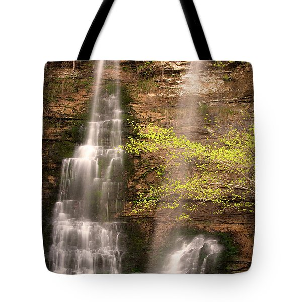 Tranquil Falls In Vertical Tote Bag by Tamyra Ayles