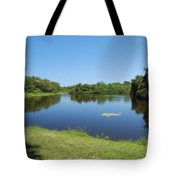 Tote Bag featuring the photograph Tranquil Lake by Gary Wonning