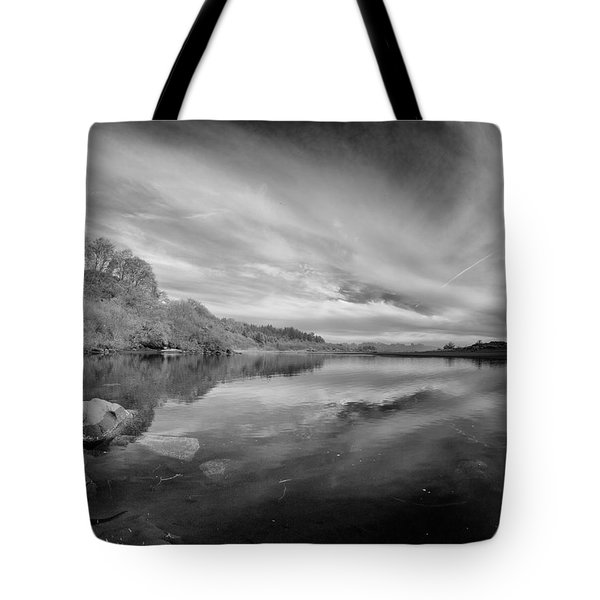 Tranquil Little River In Infrared Tote Bag