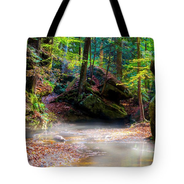 Tote Bag featuring the photograph Tranquil Mist by David Morefield