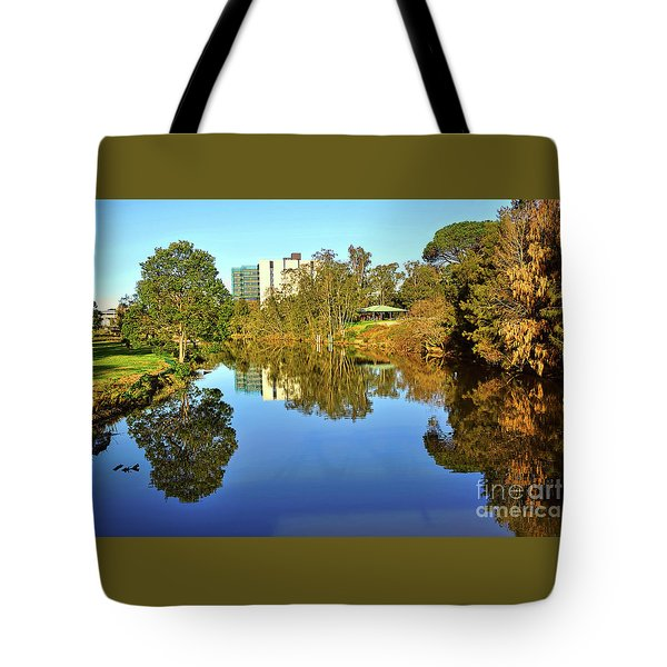 Tote Bag featuring the photograph Tranquil River By Kaye Menner by Kaye Menner