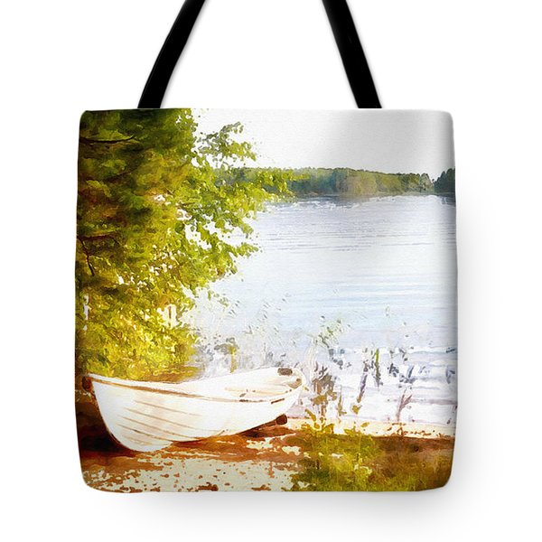 Tranquil River Tote Bag by Shirley Stalter