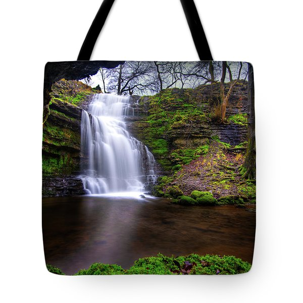 Tote Bag featuring the photograph Tranquil Slow Soft Waterfall by Dennis Dame