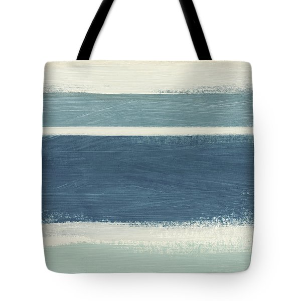 Tranquil Stripes- Art By Linda Woods Tote Bag