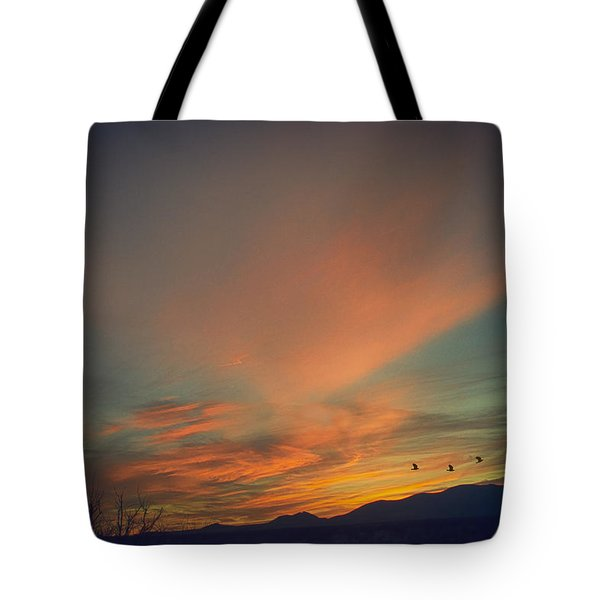 Tote Bag featuring the photograph Tranquil Sunset by Barbara Manis