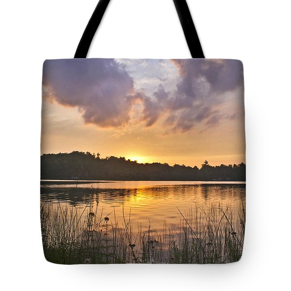 Tranquil Sunset On The Lake Tote Bag by Gary Eason
